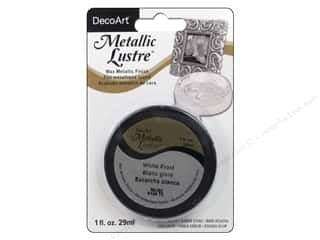 craft & hobbies: DecoArt Metallic Lustre 1 oz. Frost White