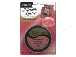 craft & hobbies: DecoArt Metallic Lustre 1 oz. Polished Coral