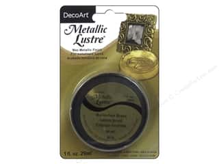 craft & hobbies: DecoArt Metallic Lustre 1 oz. Burnished Brass