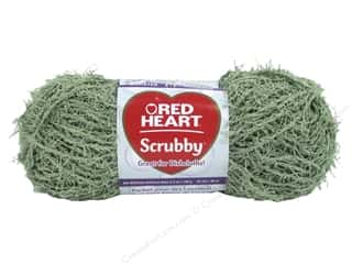 Red Heart Scrubby Yarn 92 yd. #0650 Green Tea