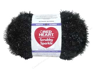 Red Heart Scrubby Sparkle Yarn 174 yd. #8012 Licorice
