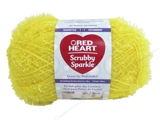 Red Heart Scrubby Sparkle Yarn 174 yd. #8215 Lemon