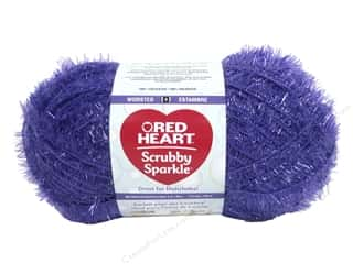 Red Heart Scrubby Sparkle Yarn 174 yd. #8570 Grape