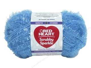 yarn & needlework: Red Heart Scrubby Sparkle Yarn 174 yd. #8506 Icepop