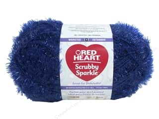 yarn & needlework: Red Heart Scrubby Sparkle Yarn 174 yd. #8830 Blueberry