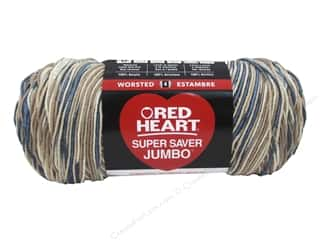 yarn & needlework: Red Heart Super Saver Jumbo Yarn 482 yd. #0301 Mirage