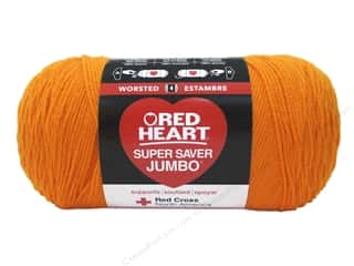 yarn & needlework: Red Heart Super Saver Jumbo Yarn 744 yd. #0254 Pumpkin