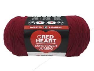 Red Heart Super Saver Jumbo Yarn 744 yd. #0376 Burgundy