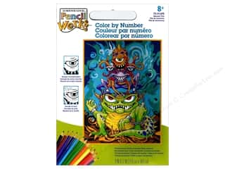 Paintworks Color By Number Kit 9 in. x 12 in. Monster Pile
