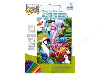 """Paintworks Color By Number 9""""x 12"""" Tropical Feathers"""