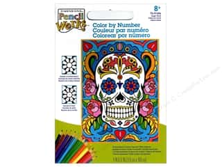 "Paintworks Color By Number 9""x 12"" Sugar Skull"