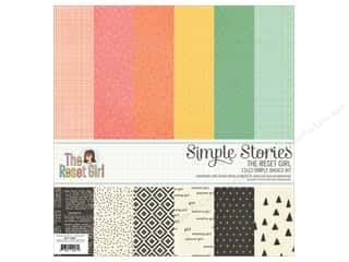 Simple Stories: Simple Stories 12 x 12 in. Basics Kit The Reset Girl
