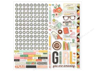 Simple Stories: Simple Stories Stickers The Reset Girl Combo (12 sets)