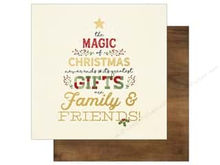 "Simple Stories: Simple Stories Collection Classic Christmas Paper 12""x 12"" Be Merry (25 pieces)"
