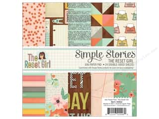 Simple Stories: Simple Stories 6 x 6 in. Paper Pad The Reset Girl