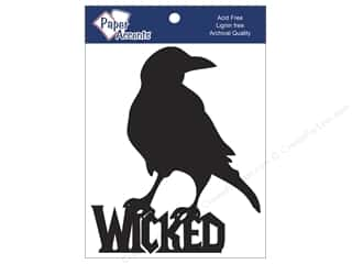 Chipboard: Paper Accents Chipboard Shape Wicked Crow 4 pc. Black