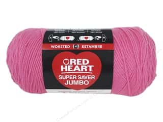 yarn & needlework: Red Heart Super Saver Jumbo Yarn 744 yd. #0706 Perfect Pink