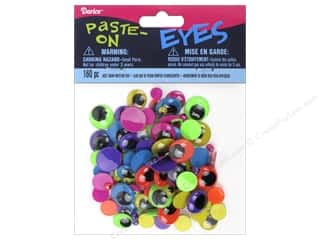 Darice Eyes Paste On Moveable Assorted Neon 160pc