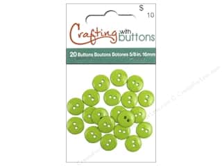 Buttons: Crafting With Buttons Colors Button 5/8 in. Lime Green 20 pc.