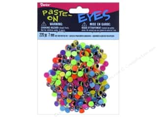 Darice Eyes Paste On Moveable 7mm Assorted Neon 220pc