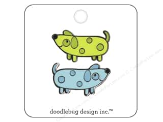 beading & jewelry making supplies: Doodlebug Enamel Pin Puppy Love Weenies