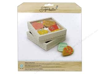 craft & hobbies: American Crafts Sweet Sugarbelle Four Cookie Box White & Gold 3 pc.