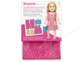 "Simplicity Doll Clothes 18"" Jumper & Bag Pink/Green"