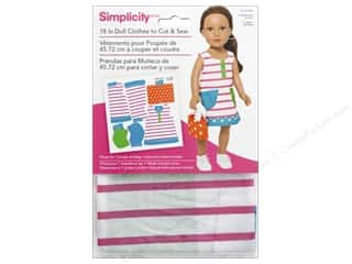 "Simplicity Doll Clothes 18"" Jumper & Bag Pink Stripe"