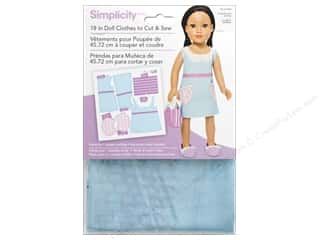 "Simplicity Doll Clothes 18"" Jumper & Bag Blue/Purple"