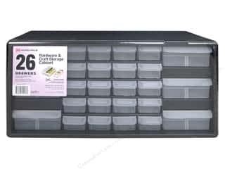 craft & hobbies: Akro-Mils Hardware & Craft Storage Cabinet 26 Drawer Black/Grey