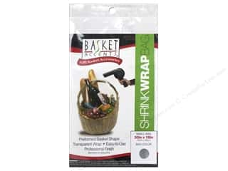 gifts & giftwrap: Basket Accents Shrink Wrap Bag Small Clear