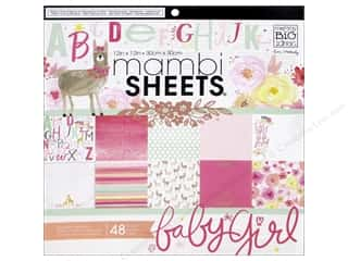 scrapbooking & paper crafts: Me & My Big Ideas Sheets 12 x 12 in. Cardstock Pad She's So Lovely