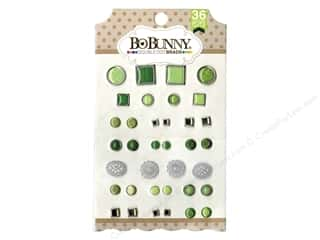 Bo Bunny Double Dot Brads 36 pc. Emerald