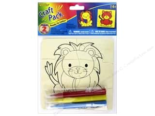 projects & kits: Darice Color-In Wood Puzzle Kit - Lion & Tiger