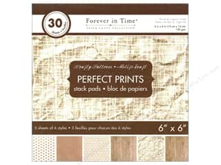 "patterned paper: Multicraft Stack Pad 6""x 6"" Perfect Prints Krafty Patterns"