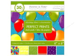 "Multicraft Stack Pad 6""x 6"" Perfect Prints Birthday Blast"