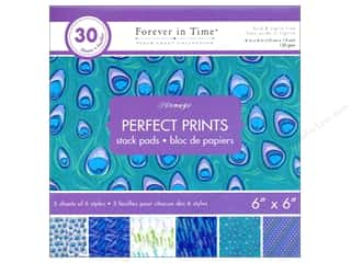 "patterned paper: Multicraft Stack Pad 6""x 6"" Perfect Prints Plumage"