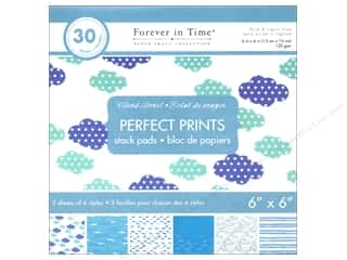 """patterned paper: Multicraft Stack Pad 6""""x 6"""" Perfect Prints Cloud Burst"""