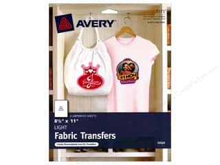 scrapbooking & paper crafts: Avery Fabric Transfers for Inkjet Printers 8 1/2 x 11 in. Light 6 pc.