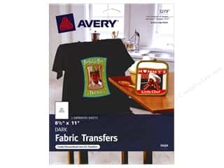 scrapbooking & paper crafts: Avery Fabric Transfers for Inkjet Printers 8 1/2 x 11 in. Dark T-Shirt 5 pc.