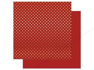 Echo Park 12 x 12 in. Paper Dots & Stripes Autumn Gold Foil Red (25 sheets)