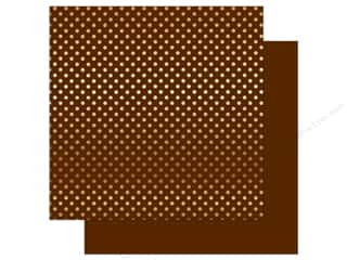 Echo Park 12 x 12 in. Paper Dots & Stripes Autumn Gold Foil Collection Brown (25 sheets)