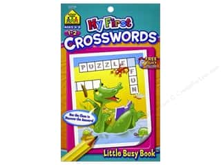craft & hobbies: School Zone Little Busy Book My First Crosswords Book