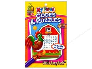 School Zone Little Busy Book My First Codes And Puzzles Book