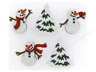 jesse james dress it up Christmas buttons: Jesse James Dress It Up Embellishments Christmas Let It Snow