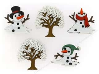 jesse james dress it up Christmas buttons: Jesse James Dress It Up Embellishments Christmas Snow Don't Go