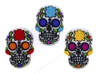 jesse james dress it up Christmas buttons: Jesse James Dress It Up Embellishments Sugar Skulls