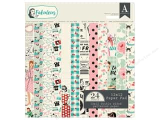 Authentique 12 x 12 in. Paper Pad Fabulous Collection