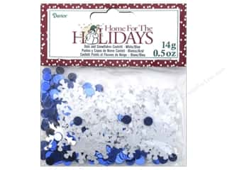 craft & hobbies: Darice Confetti Pack Dots and Snowflakes .5 oz. Blue & White