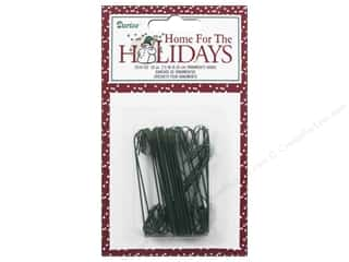 craft & hobbies: Darice Holiday Christmas Ornament Hooks 2.5 in. Green